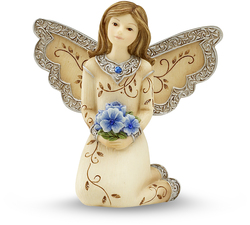 "September Birthstone Angel by Elements - 3"" September Angel w/ Sapphire Birthstone"