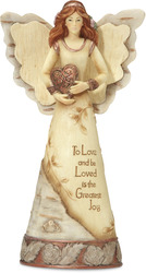 "Copper - Love by Elements - 6"" Angel with Heart"