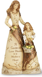"Copper - Mother & Daughter by Elements - 8"" Double Figurine"