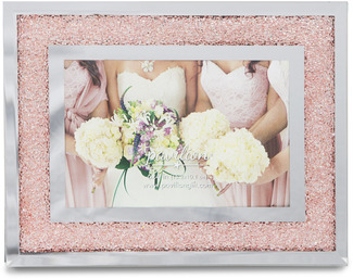 "Pink Crystal  by Glorious Occasions - 9.25""x7.25"" Frame (Holds 6""x4"" Photo)"