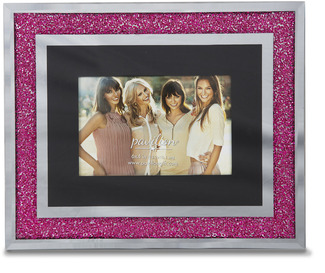 "Hot Pink Crystal  by Glorious Occasions - 11""x9"" Frame (Holds 6""x4"" Photo)"