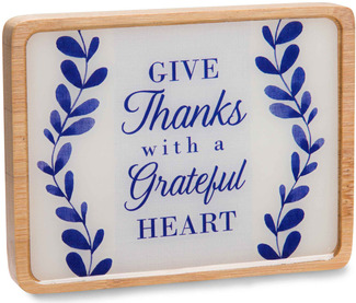 "Give Thanks by Eat Share Love - 3"" x 4"" Magnet Plaque with Easel"