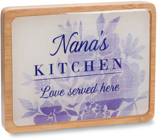 "Nana's Kitchen by Eat Share Love - 3"" x 4"" Magnet Plaque with Easel"