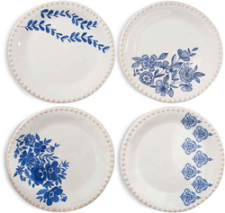 "Multi-Pattern by Eat Share Love - 6"" Appetizer Plates (Set of 4)"