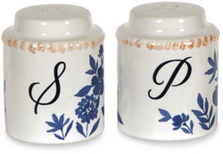 "Floral Pattern by Eat Share Love - 2"" x 2.5"" Salt and Pepper Shakers"