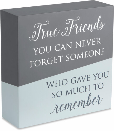 "True Friends by Love Lives Here - True Friends - 6"" x 6"" Plaque"