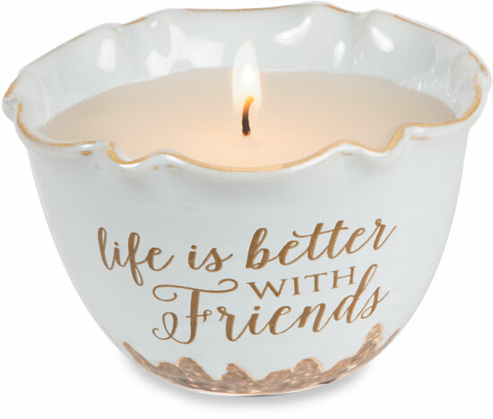 Friends by Love Lives Here - Friends - Single Wick 9 oz Soy Wax Candle Scent: Tranquility