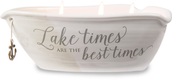 Lake Times by Love Lives Here - Lake Times - Triple Wick 10 oz Soy Wax Candle Scent: Tranquility