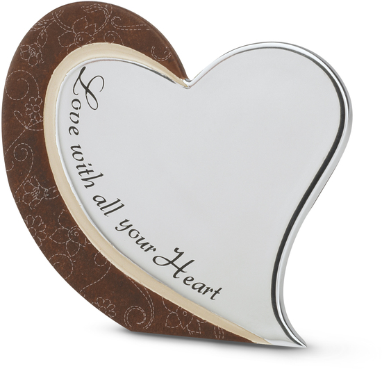 "Love with all your Heart by LAYLA - Love with all your Heart - 4.75""x4.25""Self Stand Plaque"