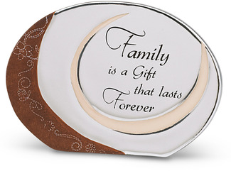 "Family is a Gift by LAYLA - 5""x3.5"" Self Standing Plaque"