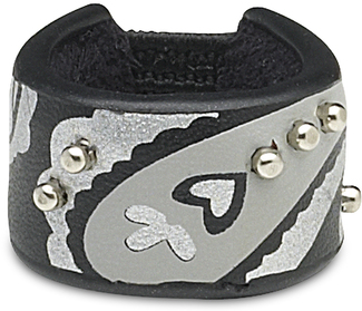 Black & Pewter Paisley by LAYLA - Leather Ring