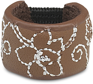 Brown Floral by LAYLA - Leather Ring