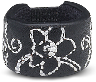 Black Floral by LAYLA - Leather Ring