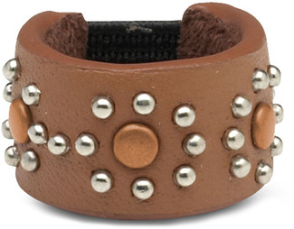 Brown Stud by LAYLA - Leather Ring