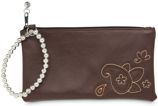 "Brown Paisley by LAYLA - Brown Paisley - 7"" x 4"" Wristlet"