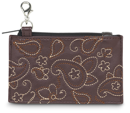 "Brown Paisley by LAYLA - 4.5"" x 2.75"" Coin Purse"