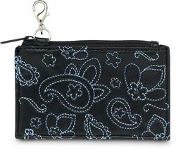 "Black & Blue Paisley by LAYLA - 4.5"" x 2.75"" Coin Purse"