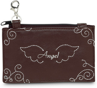 "Angel by LAYLA - 4.5"" x 2.75"" Genuine Leather Purse"