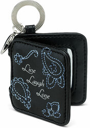 "Live, Laugh, Love by LAYLA - 2"" Mirrored Key Chain"