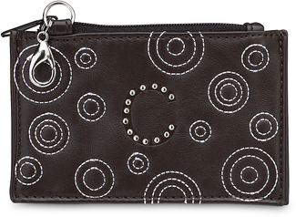"""C"" Coin Purse by LAYLA - 4.5"" x 2.75"" Circle Stitched"