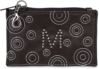 """M"" Coin Purse by LAYLA - 4.5"" x 2.75"" Genuine Leather Purse"