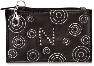 """N"" Coin Purse by LAYLA - 4.5"" x 2.75"" Circle Stitched"