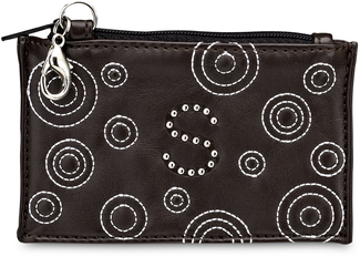 """S"" Coin Purse by LAYLA - 4.5"" x 2.75"" Genuine Leather Purse"