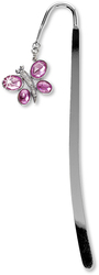 "Bookmark by LAYLA - 5.75"" w/Pink Butterfly Gem"