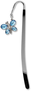 "Bookmark by LAYLA - 5.75"" w/Blue Topaz Butterfly"
