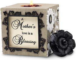 "Mother by Modeles - 4.75"" Square Tea Light Holder"
