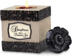 "Daughter by Modeles - 4.5"" Square Tea Light Holder"