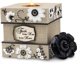 "Faith by Modeles - 5"" Square Tea Light Holder"