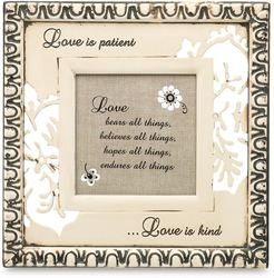 "Love by Modeles - 6.5"" x 6.5"" Plaque/Frame"