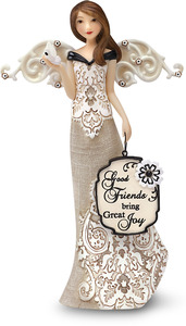 "Good Friends by Modeles - 6"" Angel Holding Butterfly"
