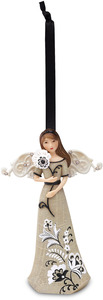 "Cherish Today by Modeles - 4.5"" Angel w/Flower Ornament"