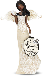 "EBN Good Friends by Modeles - 6"" EBN Angel Holding Bttrfly"