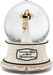 Survivor by Modeles - 100mm Musical Water Globe with Pink coloration to symbolize Breast Cancer Awareness.