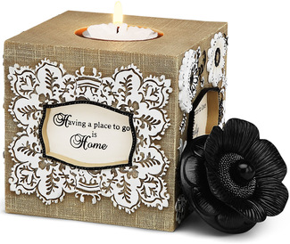 "Blessing by Modeles - 4.5"" Square Candle Holder"