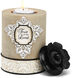 "Trust in the Lord by Modeles - 5"" Cylinder Candle Holder"
