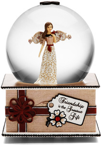 Friendship by Modeles Holiday - 100mm Musical Water Globe