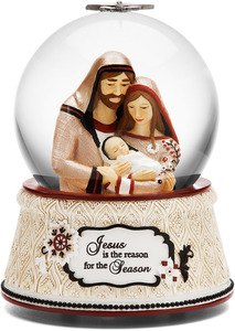 Jesus is the Reason by Modeles Holiday - 100mm Musical Water Globe