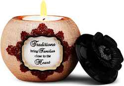 "Traditions by Modeles Holiday - 3"" Candle Holder"