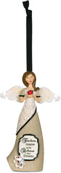 "Teacher by Modeles - 4.5"" Angel Holding Apple ORN"