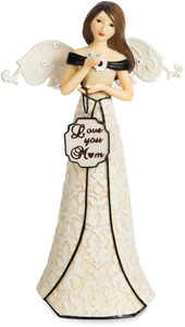 "Love You Mom by Modeles - 6"" Angel Holding Butterfly"