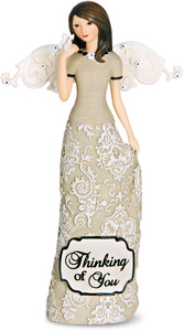 "Thinking of You by Modeles - 6"" Angel Holding Butterfly"