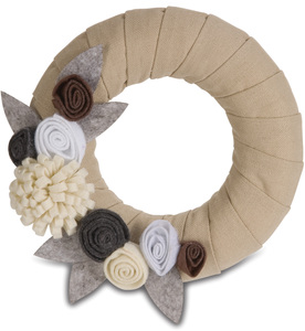 "Rustic Neutral by Signs of Happiness - 6"" Wreath"