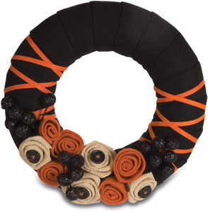 "Halloween by Signs of Happiness - 6"" Wreath"