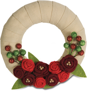 "Holiday Blooms by Signs of Happiness - 6"" Wreath"