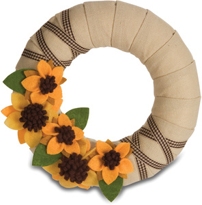 "Sunflower by Signs of Happiness - 6"" Wreath"