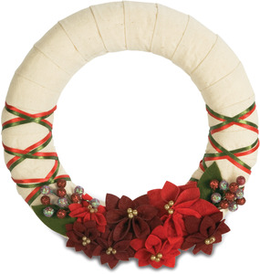 "Christmas Spirit by Signs of Happiness - 11"" Wreath"